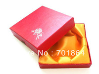 36pcs/lot Free Shipping 9 x 9 x 2 cm Square Shaped Bracelet / Bangle Gift Box Red Color Jewelry Packing