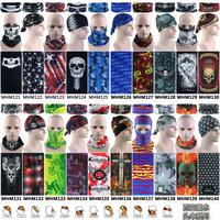 Free Shipping 1pc/lot Retail Latest Fashion Optional Skull Polyester Microfiber Outdoor Tube Headwears Multi Purpose Bandanas