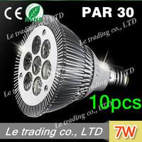 10pcs/lot 7W E27 PAR30 LED Bulb Lamp Light 85-256V  high power LEDs free shipping free shipping