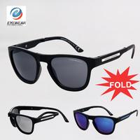 New Super Brand FOLD Sunglasses Men Light aluminium Frame Designer Women Sun Glasses oculos de sol gafas 4012
