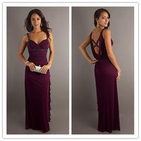 Free Shipping Long evening dress For Women Chiffon Sleeveless Formal Dresses
