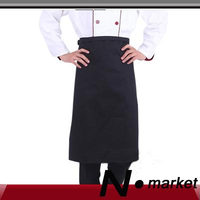 2014 Hot sale free shipping restaurant black chef apron fashion cotton kichen half apron for men(China (Mainland))