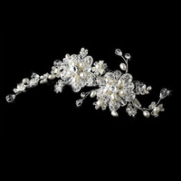 Free shipping 100% guaranteed luxurious pearl flower wedding Hairpins bride hair  jewelry retail / wholesale