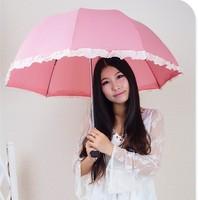Dots princess sun protect umbrella manual rain umbrella.Free shipping !!