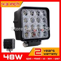 4.3'' 12v 24v 48W LED Work Light  IP67 For Truck SUV Tractor ATV Offroad Fog light LED Worklights External Light Seckill 27w 42w