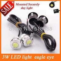 HOT 10piece Ultra bright 3W Led eagle eye daytime running light led car parking light hight power 12V lighting brand Angel Eyes