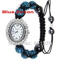 2014 New Style Jewelry! Newest Diamante Shamballa Bracelet Watch Wholesale, Gif Battery