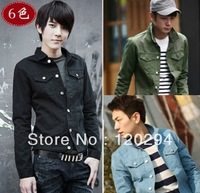 2013 Spring New Men'Jacket Mens Fashion Casual Outerwear Men's Suits Men's Clothing Jacket Vest Jean Jacket For Men FreeShipping