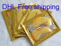 DHL Free Shipping - 4000pcs(2000bags)/Lot - Crystal Collagen Gold Powder Eye Mask Crystal Eye Mask Top Quality  Wholesale