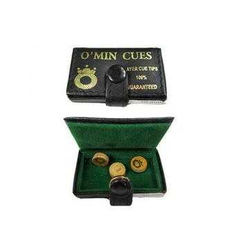 8pcs/lot original Omin tips 10MM O'min cue tips/snooker pool cue tips free shipping