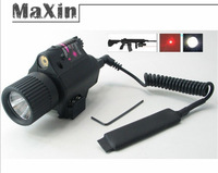 Combo quick release CREE LED Flashlight/Light +1x Red Laser/Sight 650NM for Pistol /gun free shipping