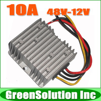 Free Shipping 10pcs/lot DC to DC Converter 48V to 12V 10A 120W Car Power Converter