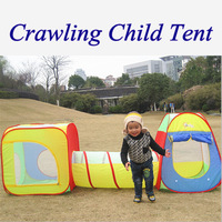 Promotion price large Kids play tent children beach tent with tunnel tube three-in-one game house toy tent ZP1004