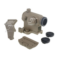 JJ Airsoft T1 / T-1 Red Dot with Killflash, 45 Degree Offset Mount, QD Mount and Low Mount (Tan) FREE SHIPPING