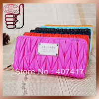 Free Shipping Retail or Wholesale New Designer women Wallet High Quality pu Leather Lady's Purse