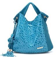 Genuine leather Tassel Stone pattern Flowers shoulder bag newest design fashion lady handbag women bags free shipping BBG0189