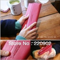 Free Shipping for women's PU envelope clutch bag long leather Wallet Ladies designer Purse Checkbook Handbag