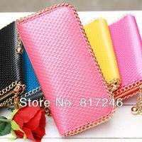metallic iron ball chain edges, Women's Wallets Clutch, Wholesale Price,PU women purse, female purse,women wallets,free shipping