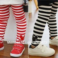albe2 striped frozen leggings for girls pants 3-8 age new 2014 red / black children pants 5pcs/ lot free shipping