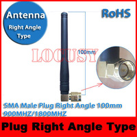 Gsm Gprs 3G  Antenna Right Angle SMA  male plug Type 900MHZ/1800MHZ 100mm