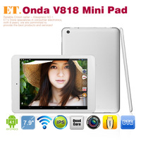 "Onda V818 Quad core Mini Pad Tablet PC 7.9"" IPS Allwinner A31s Android 4.1 HDMI 1GB RAM 16GB dual camera"