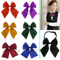 LHM Lady Girl Cravat /  Women Neck Wear Solid Color  Bow Tie Wedding Ceremonia Tie  2pcs/lot Free shipping