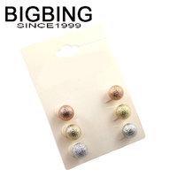 BigBing  jewelry  fashion jewelry  fashion scrub ball gentlewomen combination stud earring  free shipping J348