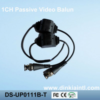 50PCS Water-proof Design UTP Passive Video Balun single channel CCTV video balun,special Alloy BNC Free shipping DS-UP0111B-T