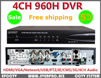 Promotion Security 4CH H.264 Full D1 960H real-time recording 1080P HDMI Standalone network CCTV DVR