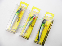 5pcs topwater minnow casting fly Fishing hard Lure Bait with 2hook spinner bait plastic fishing lure Fishing Tackle crank 95mm