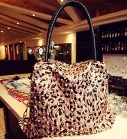Fashion beautiful Women lady  PU leather Bag Tote shoulder Bags leopard Handbag six style Satchel drop shipping