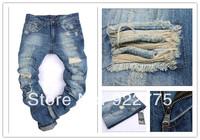 28-38#KPDSQ0831,2014 Italian Famous Brand D2 Jeans Men,Fashion Ripped Jeans For Men,Dark Color Cotton Denim True Jeans Men