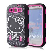 2013 Fashion  Hello Kitty galaxy s3 / SAM i9300 case  Free Shipping
