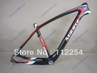 Free Shipping MI-RA-CLE Carbon Fibre Mountain Bicycle Frame MTB Frame Ultralight Frame