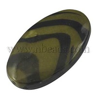 Colorful Acrylic Printed Beads,  in pastal shades,  Oval,  about 34mm long,  20mm wide,  7mm thick,  hole: 2mm