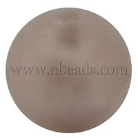 Handmade Silver Foil Glass Beads,  Frosted,  Round,  RosyBrown,  about 18mm in diameter,  hole: 2mm