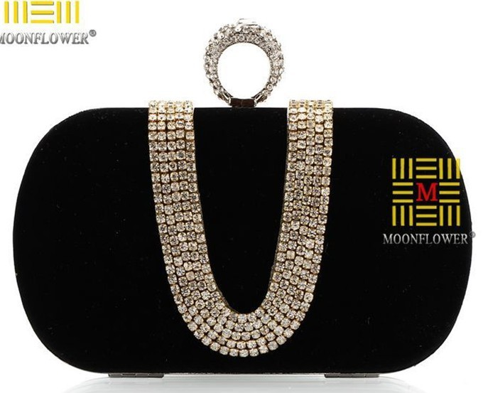New Corduory Evening Bags Factory Selling Diamond Clutch Bags Ring Dinner Bags(with Shoulder Chain) Quality Assurance NOX010(China (Mainland))