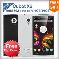 Cubot X6 mtk6592 Octa Core Mobile Phone Android 4.2 5.0inch OGS screen 1GB RAM 16GB ROM 5MP 13MP Camera Original Smartphone 3G