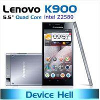 original lenovo k900 phone intel Atom Z2580 dual core 2gb ram metal phones Russian support in stock free shipping