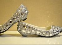 Big discount Crystal wedding shoes low-heeled silver rhinestone bride shoes wedding shoes bridesmaid shoes handmade