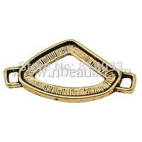 Tibetan Style Connectors,  Lead Free & Cadmium Free & Nickel Free,  Triangle,  Antique Golden Color