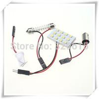 hot selling 30pcs 12V 12 SMD 3528 White led Car Dome Interior Door LED Panel Light bulb