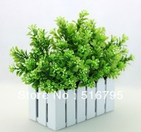 MIN ORDER>5 PCS Free shipping Milan pastoral style silk flower artificial grass plant home decoration Green grass