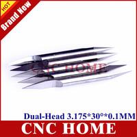 10pcs/lot 3.175MM , 30 Deg, 0.1mm Tool-Tip, Double Head Sharp Cutting Tools,CNC Router Bits,V-Shape Carbide Cutter Free Shipping