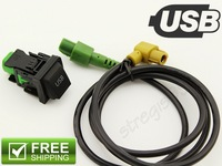 USB Switch Kit Fit For RCD510 RCD300+ GOLF MK6 JETTA MK6 Scirocco 5KD 035 726 A