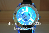 Free Shipping fashion Lady&Men Quartz Anime Themed NARUTO Watch,Chromatic LED Light