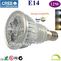10pcs High Power E14 GU10 E27 4x3W 12W dimmable LED light Spotlight  led bulb led lamp 85-265V  110V 220V