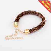 Min.order $10(mix) 1054 fashion multi color bead bubble bracelet jewelry 2013 wholesale bracelets for women