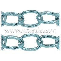 Aluminum Cross Chains,  Oxidated in Turquoise,  Size: about Chain: 22mm long,  16mm wide,  3mm thick