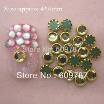 Clear color 200pcs/lot nail art stones For Girls Wholesale